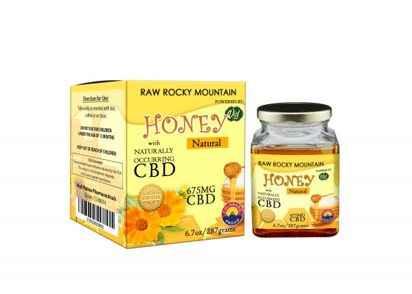 Honey - Raw Rocky Mountain CBD (675mg) Infused - Raw & Natural 6.7oz Jar anxiety, pain, sleep, overall health, focus, energy, immunity